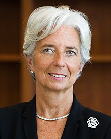 Photo officielle de Christine Lagarde.