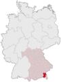 Lage des Landkreises Traunstein in Deutschland.png