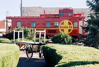 La Junta, Colorado - This railroad caboose serves as the drive-up window for The State Bank.