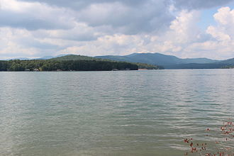 Lake Blue Ridge - Blue Ridge Lake viewed from Morganton Point with the Rich Mountains in the background