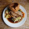 Lamb Sunday roast at Black Horse Inn, Nuthurst West Sussex England.jpg