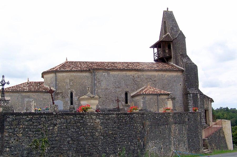Church Notre-Dame of Landerrouet-sur-Ségur (Gironde, France)
