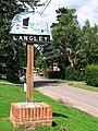 Langley village sign on the green beside Hardley Road - geograph.org.uk - 1425190.jpg