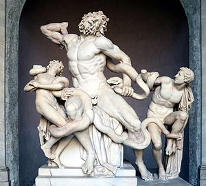 Ugolino and His Sons (Carpeaux) - Laocoön and His Sons (1st century BCE) compositionally influenced Carpeaux's Ugolino and His Sons