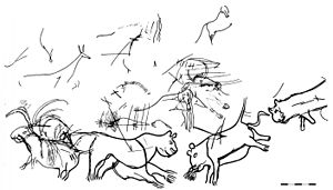 Cave lions, Chamber of Felines, Lascaux caves