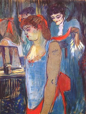 Lautrec the tattooed woman 1894