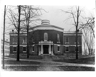 Williams College Museum of Art - Lawrence Hall, soon to house Williams College Museum of Art, before the addition of the two wings designed by Francis Allen in 1890