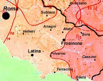 Ciociaria - Image: Lazio meridionale dialetti