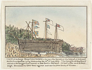 Baron of Renfrew (ship) - Launching of Columbus