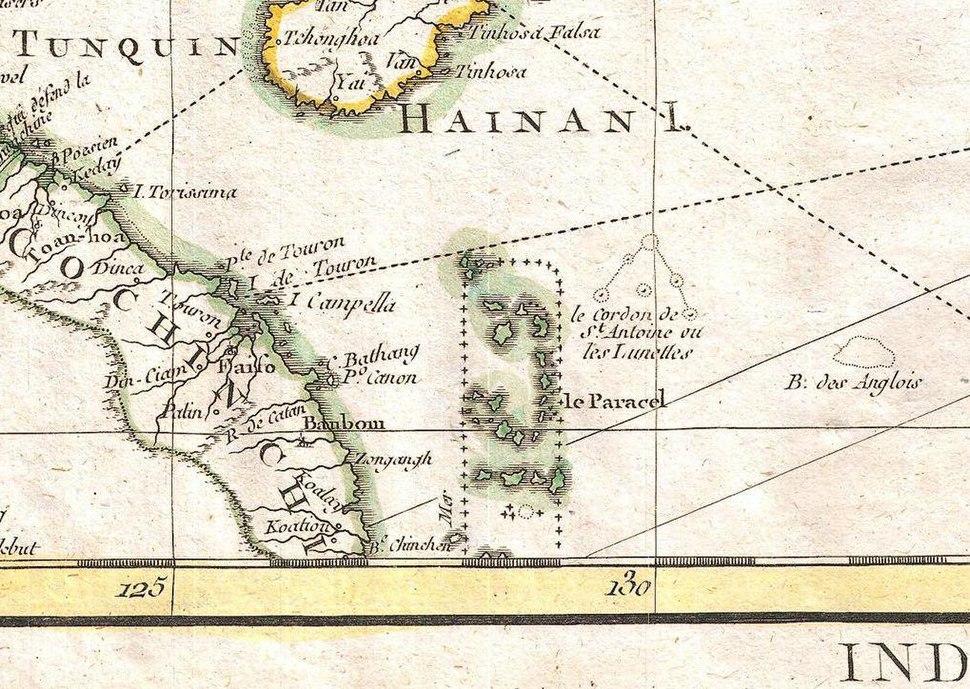 Le Paracel-1771 Bonne Map of Tonkin (Vietnam) China, Formosa (Taiwan) and Luzon (Philippines) - Geographicus - Formosa-bonne-1771