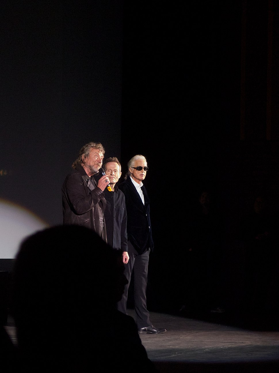 Led Zeppelin answering questions, 2012
