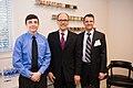 Left to right- Luke Fouts (apprentice at Buhler Aeroglide), Secretary Perez, Milton Guerry (President Shunk USA) (16508902051).jpg