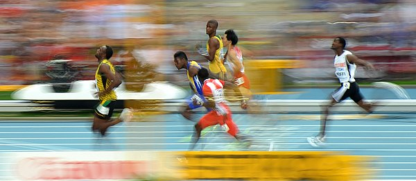 Usain Bolt (Jamaica), 14th IAAF World Championships in Athletics in Moscow, Russia