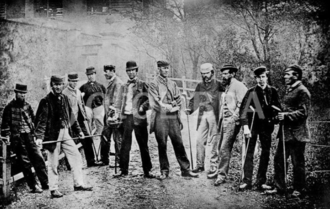 Jamie Anderson (golfer) - Anderson (4th from left) at the Leith Links Tournament in 1867
