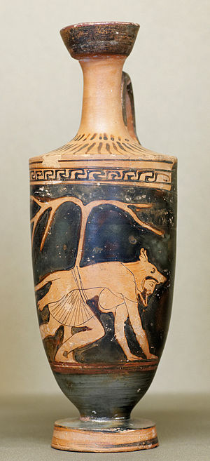 Dolon (mythology) - Dolon crawling on all fours in his wolf skin