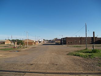 Lemmon, South Dakota - Image: Lemmon, SD as seen from North Lemmon, ND