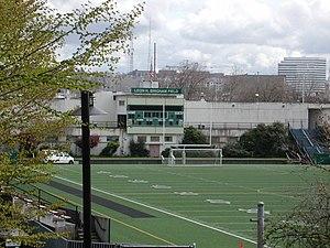 Memorial Stadium (Seattle) - Leon H. Brigham Field on Memorial Stadium scoreboard