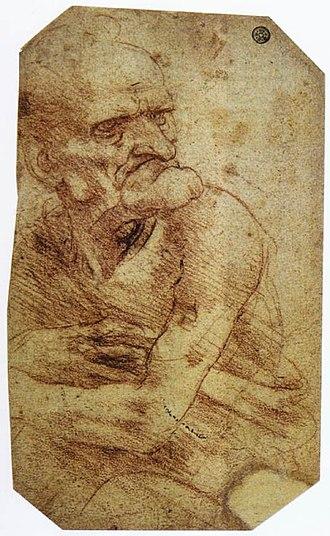 Istituto Nazionale per la Grafica - Image: Leonardo da Vinci Study of an Old Man WGA12791