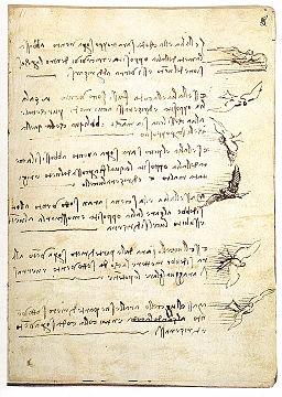 Leonardo da vinci, Codex on the flight of birds