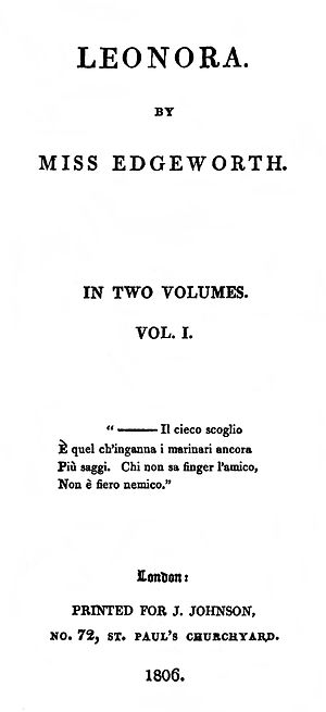 Leonora (novel) - First edition title page