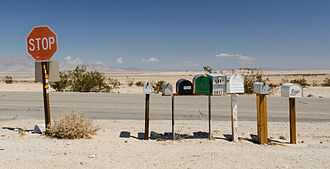 Ocotillo Wells, California - Letterboxes in the desert near Ocotillo Wells