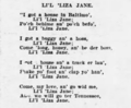 Li'l 'Liza Jane 1905 lyrics.png