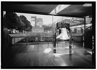 Liberty Bell Pavilion - Image: Liberty Bell Pavilion Bell Chamber HABS 213801pv