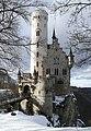 Lichtenstein - Schloss Lichtenstein - Ansicht von Südosten mit Schnee.jpg