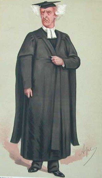 Henry Liddell - Caricature of Rev. Henry Liddell by 'Ape' from Vanity Fair (1875)