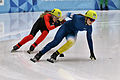 Lillehammer 2016 - Short track 1000m - Women Finals - Julia Moore and Ane By Farstad.jpg