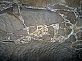 Limestone breccia & gypsum wedging (Ste. Genevieve Limestone, Middle Mississippian; Rose's Pass, Mammoth Cave, Kentucky, USA) 9 (37345344524).jpg