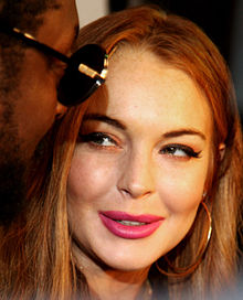 Lindsay Lohan - the spoiled, hautain,  actress  with German, Irish, Scottish, Italian,  roots in 2018