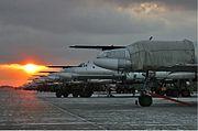 Lineup of Tu-95 at Engels Air Base