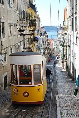 Ascensor da Bica - Bica tram elevator lower platform, Lisboa