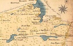 Lissmasøen med omgivelse 1750