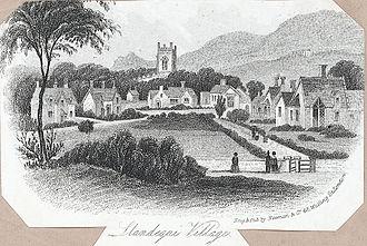 Llandygai - Llandegai Village, 1855