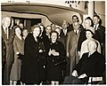 Llora Bortman (center); Mark Bortman, chairman of Boston's Civic Committee; Mary Collins; and Mayor John F. Collins with group of unidentified men and women (11071947776).jpg