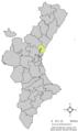 Localització d'Albalat dels Tarongers respecte del País Valencià.png