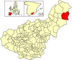 Location of Orce