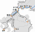 Location of Kokura St and Hakata St.png