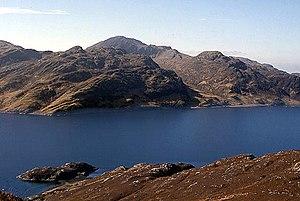 Beinn na Caillich (Knoydart) - Image: Loch Hourn geograph.org.uk 1104277