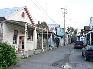 Locke, California - The main street of Locke, in 2006, has some Chinese shops among habitations.