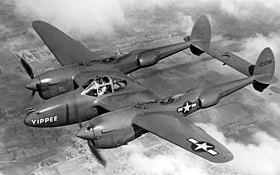 Un P-38 des Forces armées américaines.