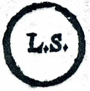 "Seal (contract law) - German ""L.S."" mark from 1687, for locus sigilli"