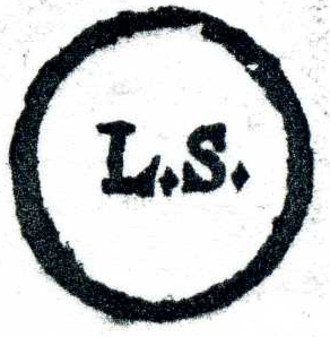 """Seal (contract law) - German """"L.S."""" mark from 1687, for locus sigilli"""