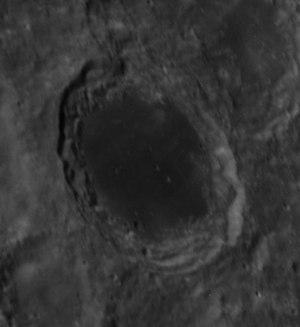 Lomonosov (lunar crater) - Oblique Apollo 14 Hasselblad camera image