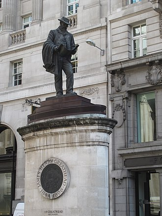 Statue of James Henry Greathead, London - The statue