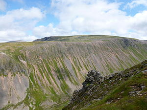 Cairngorm Plateau Disaster - The Cairngorm Plateau, seen from across the Lairig Ghru