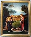 Lorenzo costa, adorazione del bambino con arrivo dei magi, 1503-06, da ss. gervasio e protasio, 01.jpg