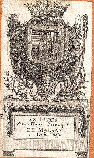 Camille, Prince of Marsan - Arms
